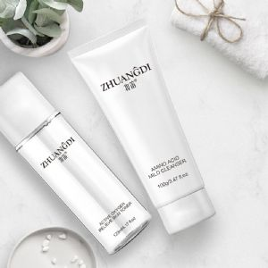 洗面奶套盒批发妆笛 氨基酸洗面奶+活氧爽肤水套盒批发