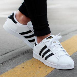 adidas Superstar 金标贝壳头休闲板鞋C77124