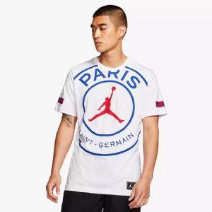 Jordan官方巴黎圣日尔曼联盟大logo短袖T恤