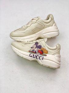 G ucci古 驰米老鼠复古慢跑鞋货源批发哪里有卖一件代发