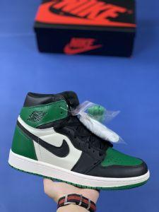 "Nike Air Jordan 1""黑绿脚趾""真假对比"