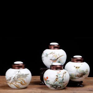 陶瓷密封茶叶罐定做印字