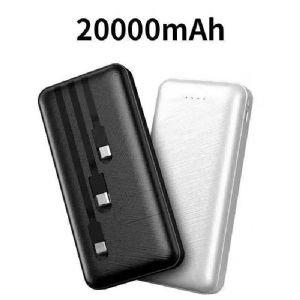 私模自带线20000毫安移动电源三线接口充电宝工厂批发