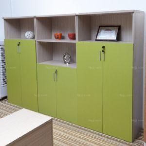 竖门排层空盒柜 来宾铝板木家具 百色文件箱储柜