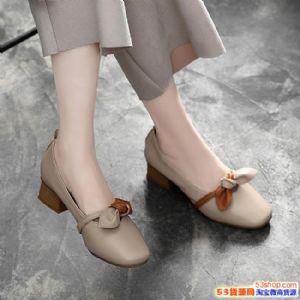 软妹风格小单鞋招代理,温州真皮女鞋批发图片
