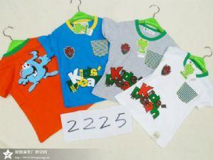 童装夏季纯棉卡通圆领短袖套装T恤厂家货源