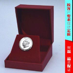 纯银毛主席像章湖南商务馈送纪念礼品