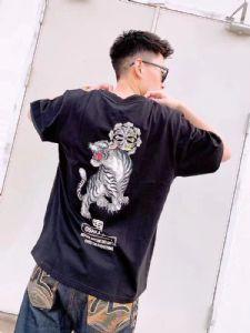 正品 Evisu 福神 20SS男士老虎家花印花短袖T恤