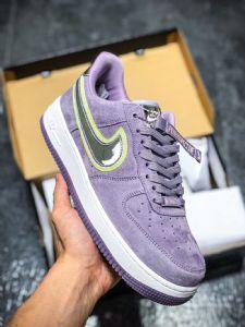 莆田鞋纯原af1低帮板鞋 af1解构绿粉 白紫黄空军一号纯原多少