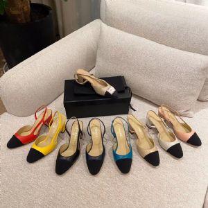 Slingbacks 羊皮凉鞋批发羊皮高跟单鞋一件代发图片