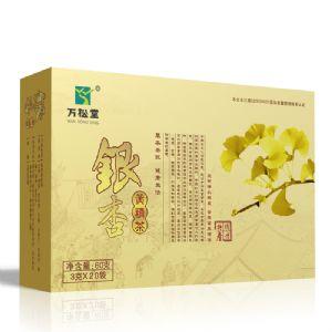 【万松堂银杏黄精茶的作用】千年银杏谷之乡原产地茶叶 代理招商