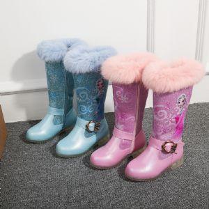 2020女童长靴平底舒服棉靴冬天必备