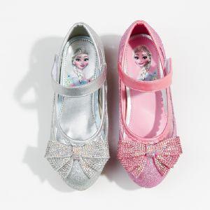 女童公主跟鞋时尚高档水晶鞋冰雪奇缘