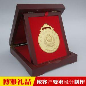 警察荣休纪念章警察节表彰奖品民警退休纪念牌图片