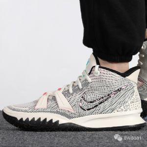 Nike耐克Kyrie�W文7代��W公式�@球鞋CZ0143-100�D片